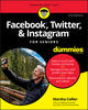 Facebook, Twitter, and Instagram For Seniors For Dummies, 3rd Edition (1119541417) cover image