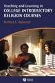 Teaching and Learning in College Introductory Religion Courses (1405158417) cover image