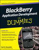 BlackBerry Application Development For Dummies (0470467118) cover image