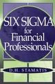 Six Sigma for Financial Professionals (0471459518) cover image