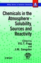 Chemicals in the Atmosphere: Solubility, Sources and Reactivity  (0471986518) cover image