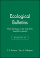 Ecological Bulletins, Bulletin 45, Plant Ecology in the Sub-Artic Swedish Lapland (8716152018) cover image