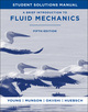 A Brief Introduction To Fluid Mechanics, Student Solutions Manual , 5th Edition (0470924519) cover image