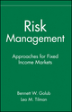 Risk Management: Approaches for Fixed Income Markets (0471332119) cover image