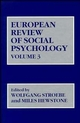 European Review of Social Psychology, Volume 3 (0471932019) cover image