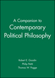 A Companion to Contemporary Political Philosophy (0631199519) cover image
