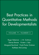Best Practices in Quantitative Methods for Developmentalists, Volume 71, Number 3 (1405169419) cover image