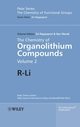The Chemistry of Organolithium Compounds: R-Li, Volume 2 (047002321X) cover image
