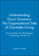 Understanding Donor Dynamics: The Organizational Side of Charitable Giving: New Directions for Philanthropic Fundraising, Number 32 (078795831X) cover image