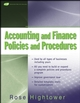 Accounting and Finance Policies and Procedures, (with URL) (0470259620) cover image