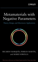 Metamaterials with Negative Parameters: Theory, Design and Microwave Applications (0471745820) cover image