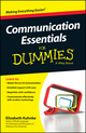 Communication Essentials For Dummies, 2nd Edition (0730319520) cover image