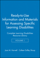 Ready-to-Use Information and Materials for Assessing Specific Learning Disabilities: Complete Learning Disabilities Resource Library, Volume I (0787972320) cover image