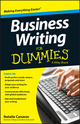 Business Writing For Dummies (1118583620) cover image