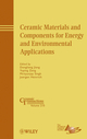 Ceramic Materials and Components for Energy and Environmental Applications (0470408421) cover image