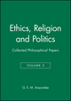 Ethics, Religion and Politics: Collected Philosophical Papers, Volume 3 (0631129421) cover image