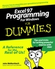Excel 97 Programming for Windows For Dummies (0764501321) cover image