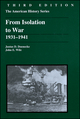 From Isolation to War: 1931 - 1941, 3rd Edition (0882959921) cover image