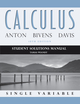 Student Solutions Manual to accompany Calculus Late Transcendentals Single Variable, 10th Edition (1118173821) cover image