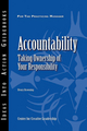 Accountability: Taking Ownership of Your Responsibility (1118353021) cover image