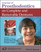 Journal of Prosthodontics on Complete and Removable Dentures (1119442621) cover image