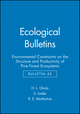 Ecological Bulletins, Bulletin 43, Environmental Constraints on the Structure and Productivity of Pine Forest Ecosystems (8716151321) cover image