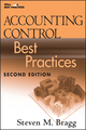 Accounting Control Best Practices, 2nd Edition (0470405422) cover image