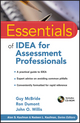 Essentials of IDEA for Assessment Professionals (0470873922) cover image