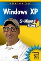Geeks On Call Windows XP: 5-Minute Fixes (0471790222) cover image