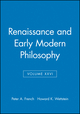 Renaissance and Early Modern Philosophy, Volume XXVI (0631233822) cover image