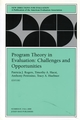 Program Theory in Evaluation Challenges and Opportunities: New Directions for Evaluation, Number 87 (0787954322) cover image