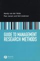Guide to Management Research Methods (1405115122) cover image