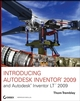 Introducing Autodesk Inventor 2009 and Autodesk Inventor LT 2009 (0470375523) cover image