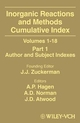 Inorganic Reactions and Methods, Volumes 1-18, Cumulative Index, Part 1: Author and Subject Indexes (0471327123) cover image