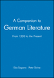 A Companion to German Literature: From 1500 to the Present (0631171223) cover image