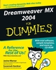 Dreamweaver MX 2004 For Dummies (0764543423) cover image