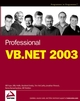 Professional VB.NET 2003 (0764559923) cover image