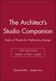 The Architect's Studio Companion: Rules of Thumb for Preliminary Design, 5e Wiley E-Text Card (1118830423) cover image