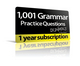 1,001 Grammar Practice Questions For Dummies (1-Year Online Subscription) (1118849523) cover image