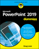 PowerPoint 2019 For Dummies (1119514223) cover image