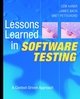 Lessons Learned in Software Testing: A Context-Driven Approach (0471081124) cover image