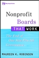Nonprofit Boards That Work: The End of One-Size-Fits-All Governance (0471354325) cover image