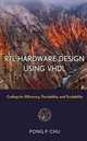 RTL Hardware Design Using VHDL: Coding for Efficiency, Portability, and Scalability (0471720925) cover image
