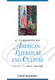 A Companion to American Literature and Culture (0631208925) cover image