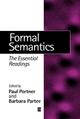 Formal Semantics: The Essential Readings (0631215425) cover image