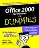 Microsoft Office 2000 For Windows For Dummies (0764504525) cover image