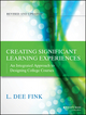 Creating Significant Learning Experiences: An Integrated Approach to Designing College Courses, Revised and Updated (1118416325) cover image