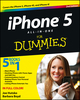 iPhone 5 All-in-One For Dummies, 2nd Edition (1118490525) cover image