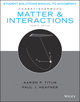 Student Solutions Manual to accompany Matter and Interactions, 4e (1119058325) cover image