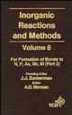 Inorganic Reactions and Methods, Volume 8, The Formation of Bonds to N, P, As, Sb, Bi (Part 2) (0471185426) cover image